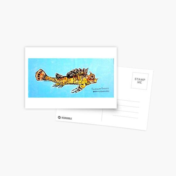 Fourhorn Poacher (Hypsagonus quadricornis) Postcard