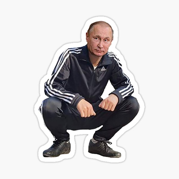 Vladimir Putin Tracksuit Gopnik Sticker
