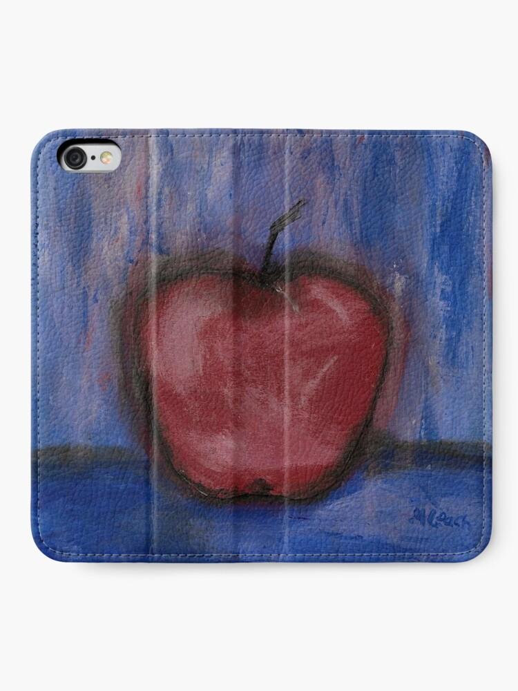 Alternate view of Big Red Apple ln Denim iPhone Wallet