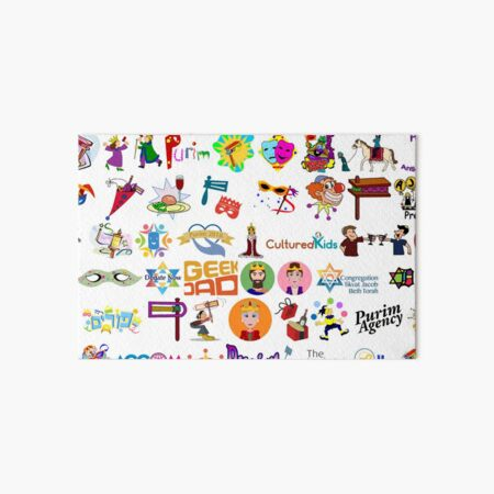 Purim, Clip art, people, teenager, adolescence, text, graphics, illustration, child, sketch, fun, cute Art Board Print