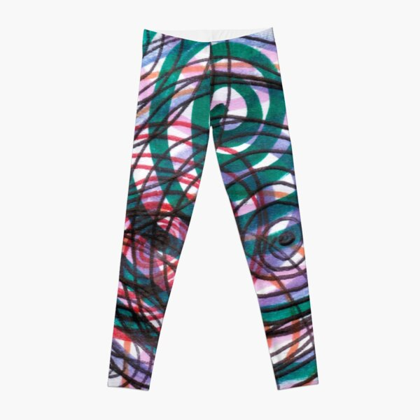 Spiral, pattern, abstract, creativity, shape, design, art, bright, decoration, futuristic, curve Leggings
