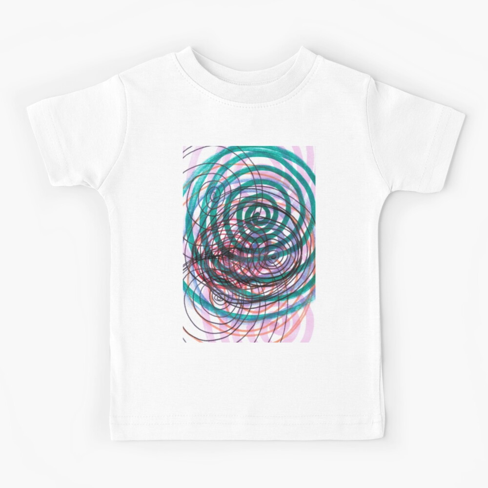 Spiral, pattern, abstract, creativity, shape, design, art, bright, decoration, futuristic, curve Kids T-Shirt