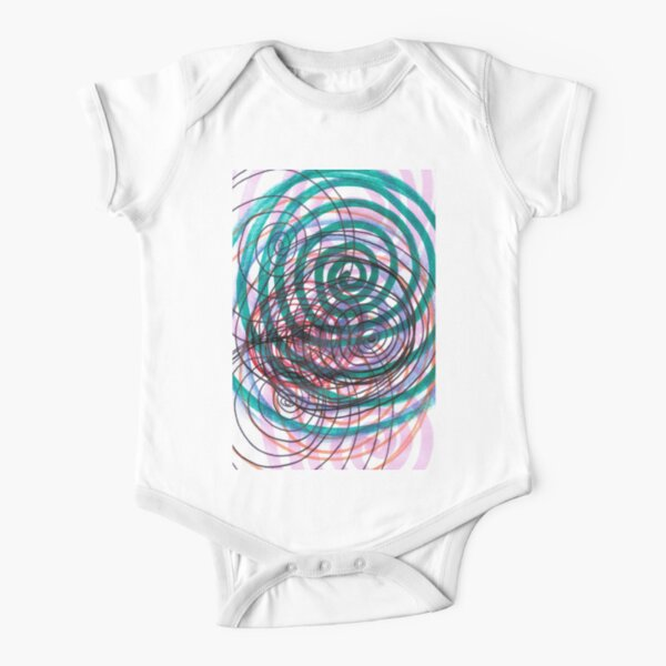 Spiral, pattern, abstract, creativity, shape, design, art, bright, decoration, futuristic, curve Short Sleeve Baby One-Piece