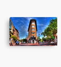 Vancouver's Flat Iron Building Canvas Print