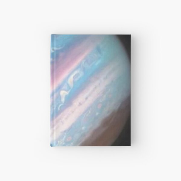 Planet, atmosphere, sky, science, astronomy, illustration, saturn, galaxy, space, exploration Hardcover Journal