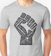African American Civil Rights Black Power Fist Justice Design Unisex T-Shirt