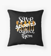 Save Spoons Collect Them Spoon Collector print Floor Pillow