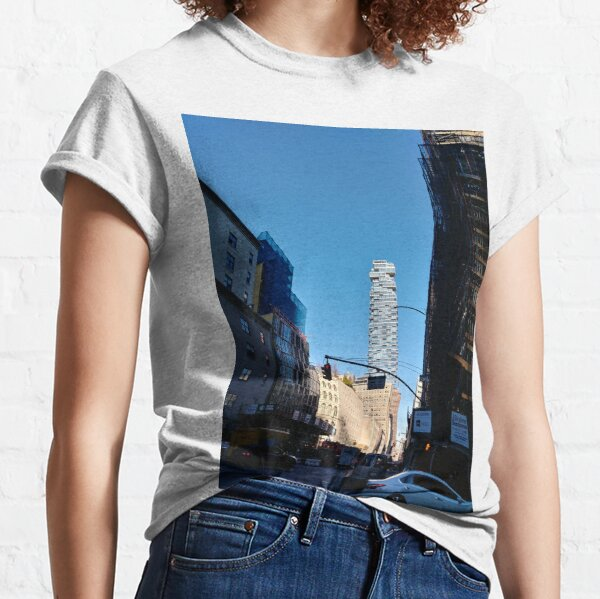 New York City, #Manhattan, New York, #downtown, #NeeYorkCity, #NeeYork, #buildings, #streets, #avenues, #skyscrapers, #cars, #pedestrians Classic T-Shirt