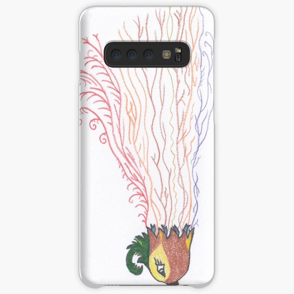 Merch #7 -- Tropical Feathered Flourish. Case & Skin for Samsung Galaxy