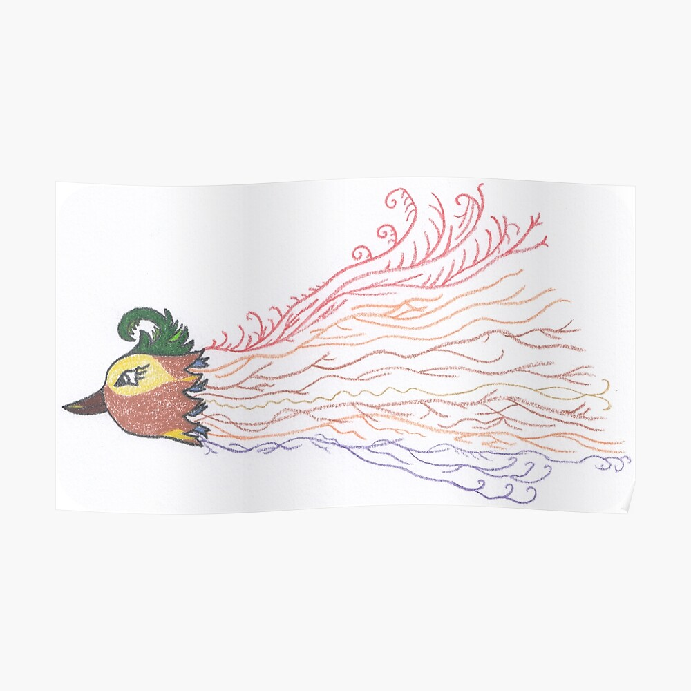Merch #7 -- Tropical Feathered Flourish. Poster