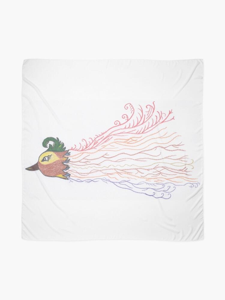 Alternate view of Merch #7 -- Tropical Feathered Flourish. Scarf