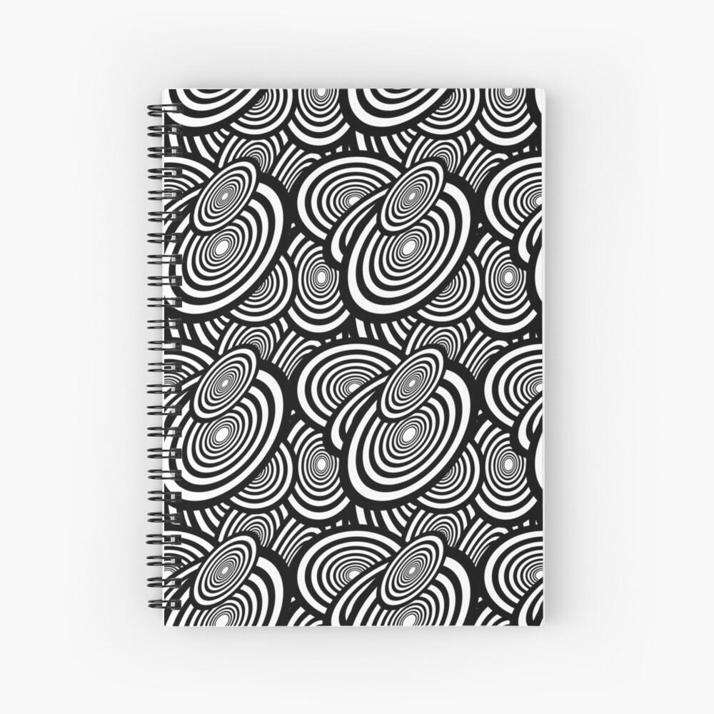 Clipart Disks Pattern Spiral Notebook
