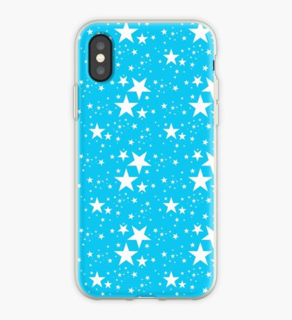 Blue and white stars pattern iPhone Case