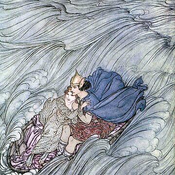 Becuma of the White Skin, Irish Fairy Tales, Arthur Rackham by forgottenbeauty