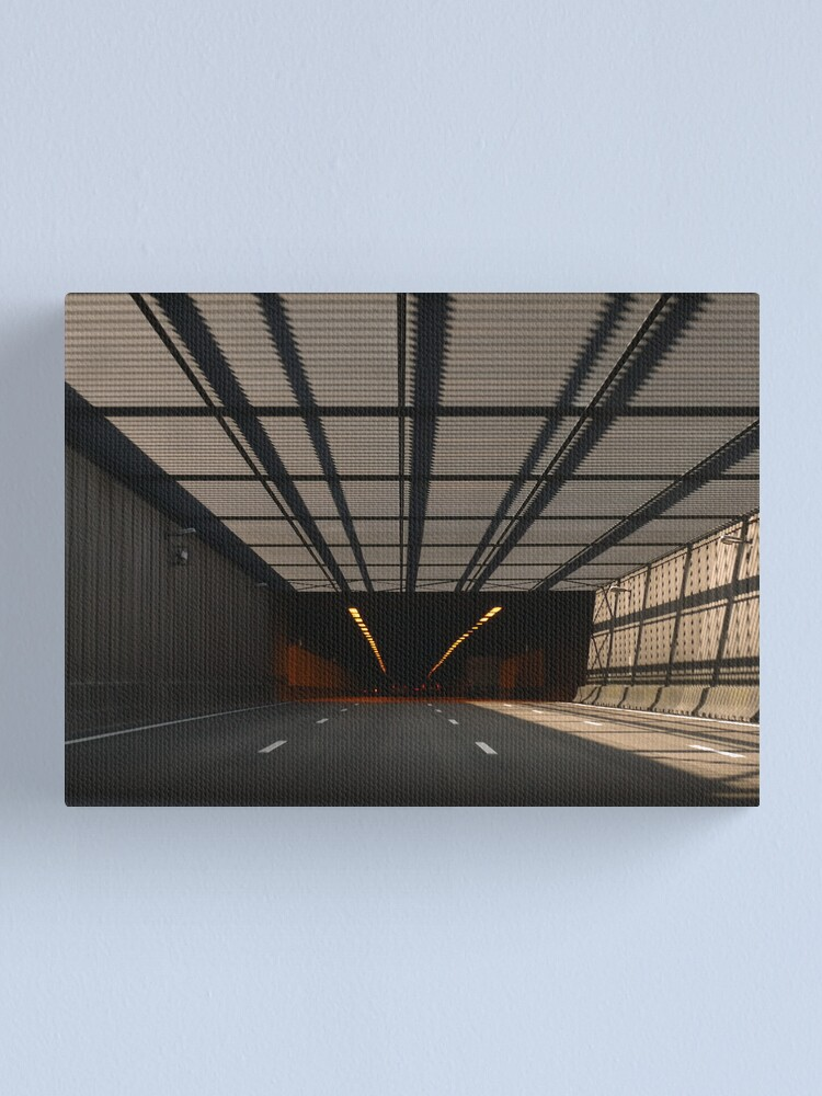 Alternate view of Entering the tunnel Canvas Print