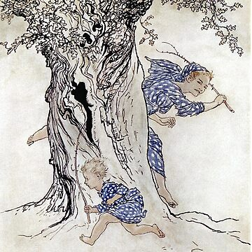 The Boyhood of Fionn, Irish Fairy Tales, Arthur Rackham by forgottenbeauty