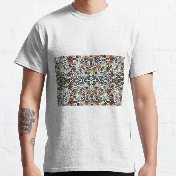 #pattern, #abstract, #art, #decoration, illustration, design, textile, shape, scribble Classic T-Shirt