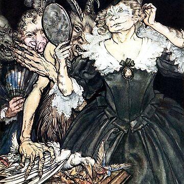 Monsters - Comus, Arthur Rackham by forgottenbeauty