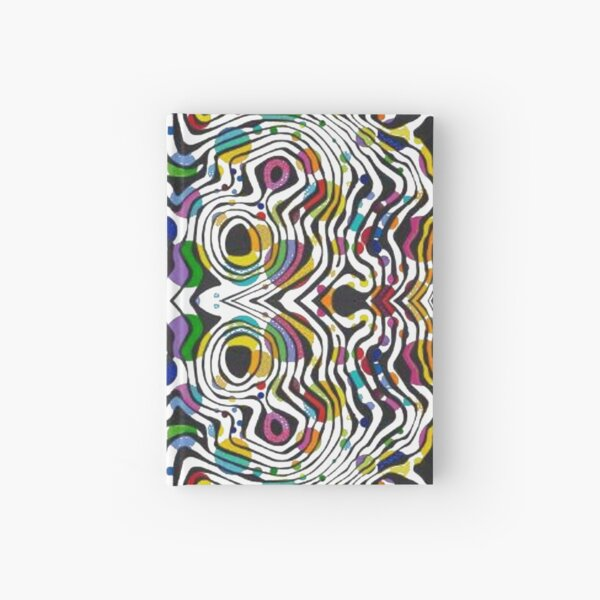 pattern, abstract, art, decoration, illustration, design, textile, shape, scribble Hardcover Journal