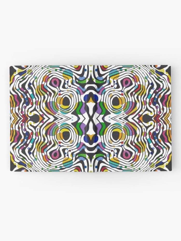 Alternate view of pattern, abstract, art, decoration, illustration, design, textile, shape, scribble Hardcover Journal