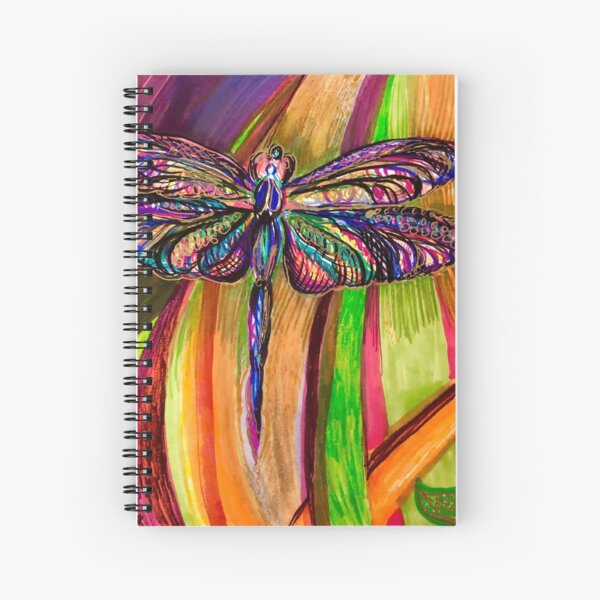 Dragonfly Dreams of Water Spiral Notebook
