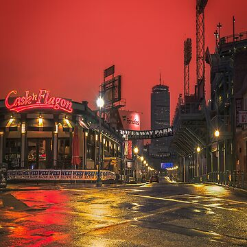Red Dawn on Lansdowne Street, Boston by mattmacpherson