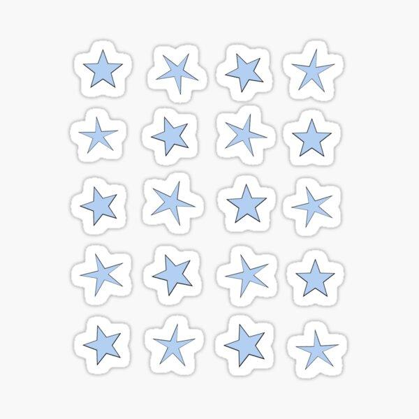 mini star set - blue Sticker