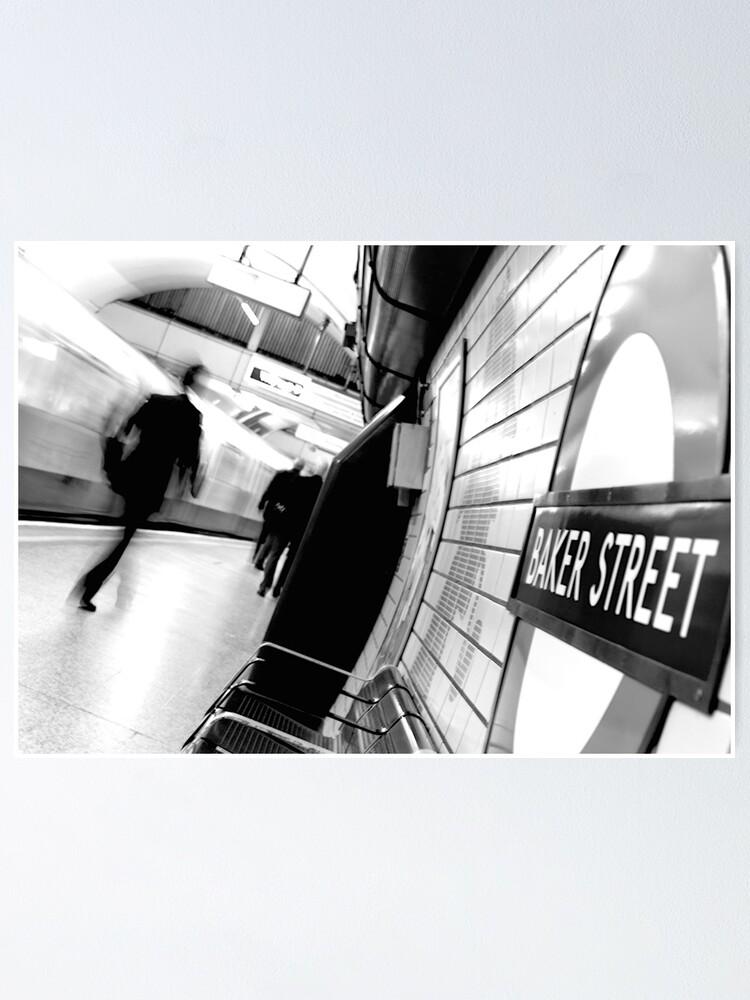 Alternate view of Baker Street Underground in London Poster