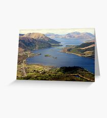 From The Pap of Glencoe, looking west. Greeting Card