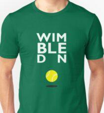 Wimbledon (white title) Slim Fit T-Shirt