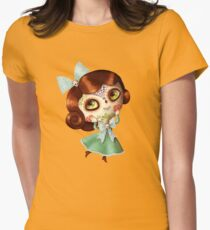 The Day of The Dead Vintage Doll Womens Fitted T-Shirt