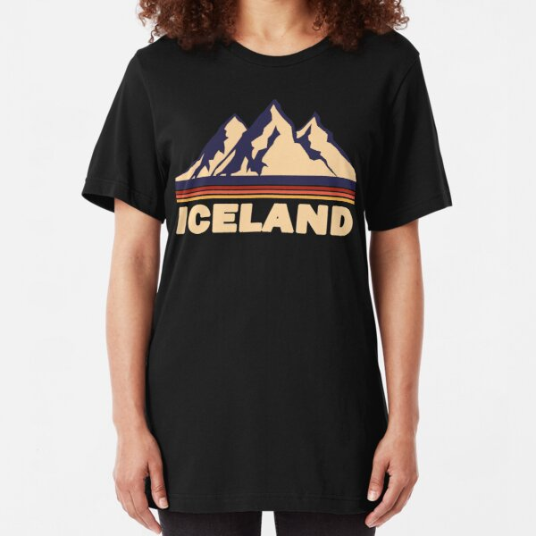 Iceland Mountain Slim Fit T-Shirt