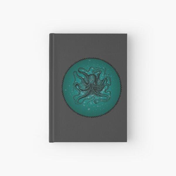 Octopus in Teal Waters Hardcover Journal