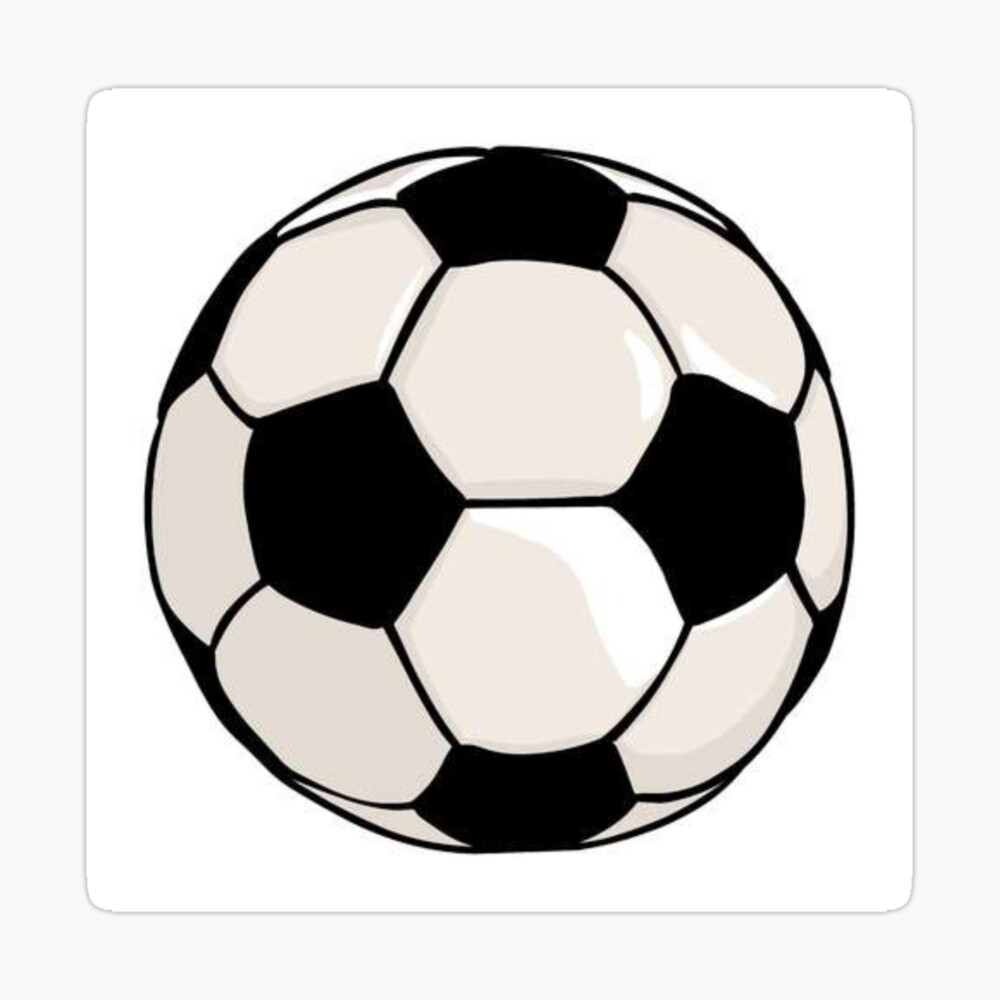 Football Soccer Ball Black And White Drawing Photographic Print By Chantal15 Redbubble