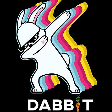 Colorful Dabbing Bunny Rabbit The Dabbit Happy Easter by japdua