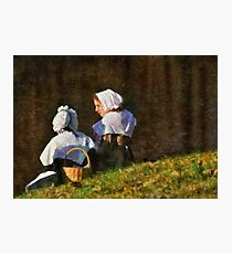 People - The young maidens Photographic Print
