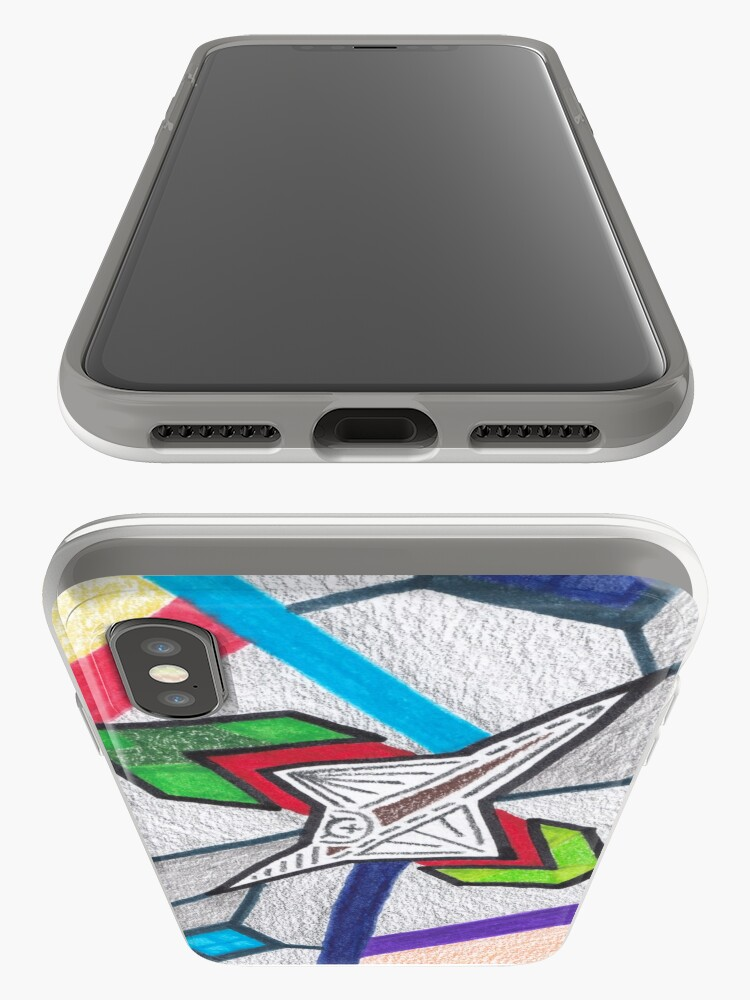Alternate view of Merch #8 -- Glass Stained Abstract Pane. iPhone Cases & Covers
