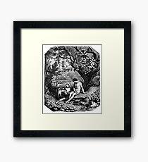 Adam and Eve in the garden of Eden Framed Print