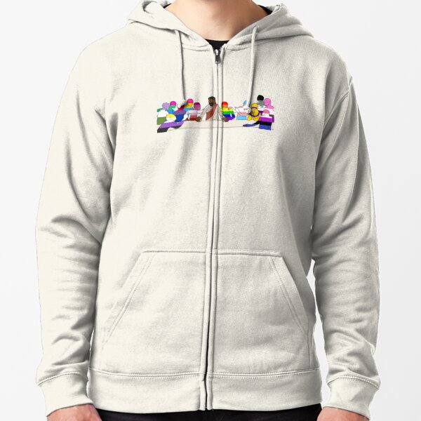 For Everyone Born A Place at the Table Zipped Hoodie