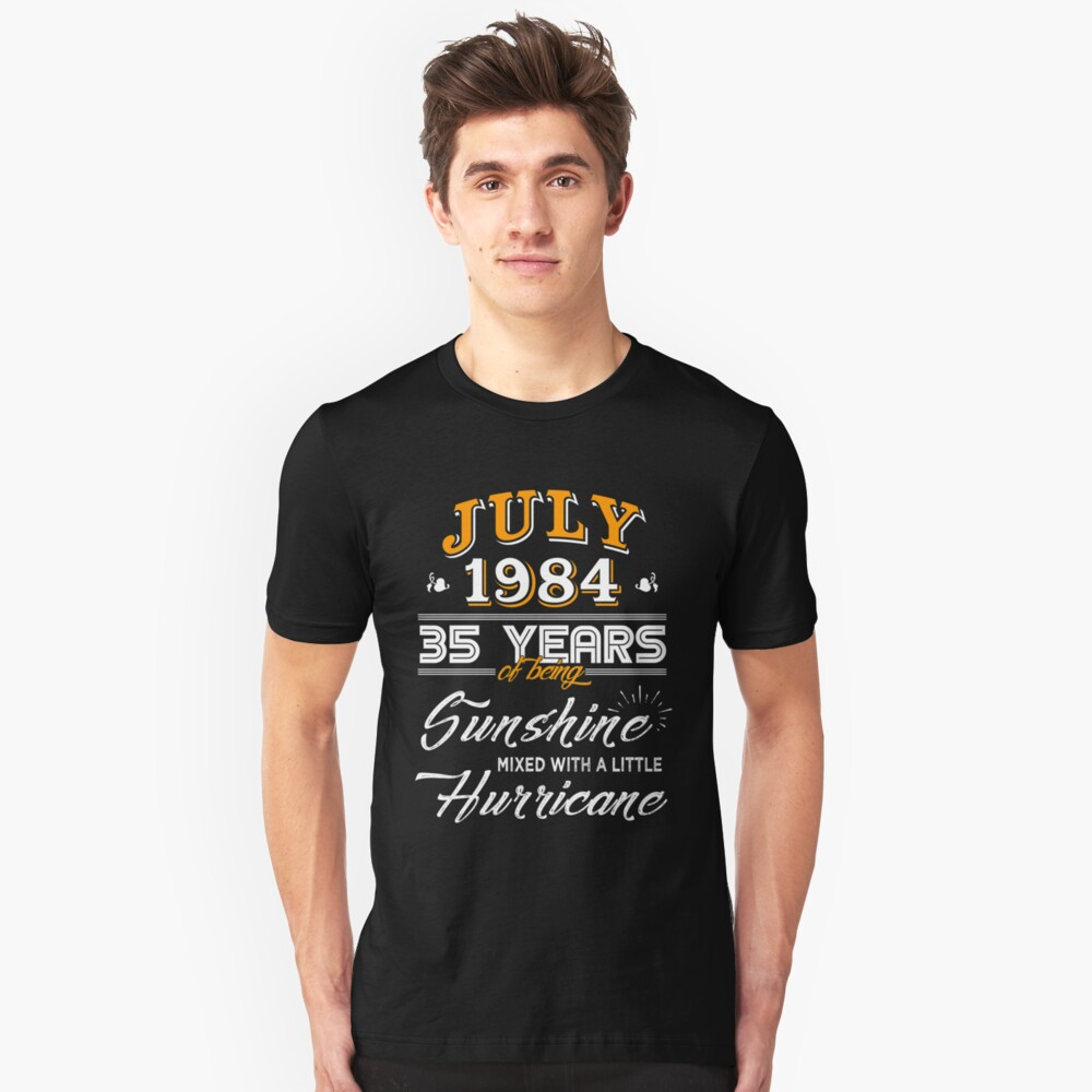 July 1984 Birthday Gifts - July 1984 Celebration Gifts - Awesome Since July 1984 Unisex T-Shirt
