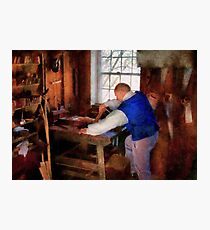 Woodworker - The master carpenter Photographic Print