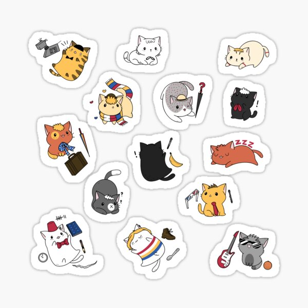 Time Lord Kittens Sticker