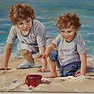 Beach Kids in Pastel by Norah Jones
