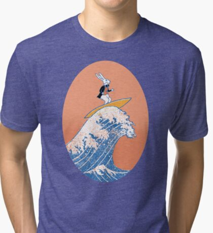 White Rabbit Surfing Tri-blend T-Shirt