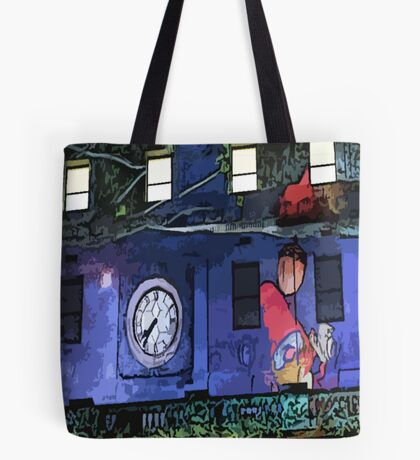 Gnomes in the Clocktower Tote Bag