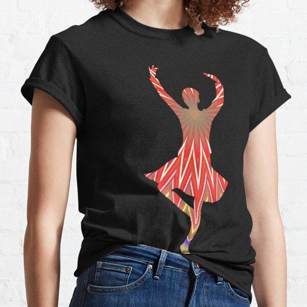 Transparent Silhouette ballerina dancing girl Clipart  Classic T-Shirt