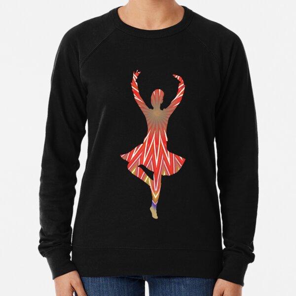 Transparent Silhouette ballerina dancing girl Clipart  Lightweight Sweatshirt
