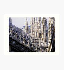 Duomo di Milano - details Art Print