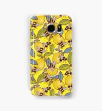 Yellow lemon and bee garden. Samsung Galaxy Case/Skin