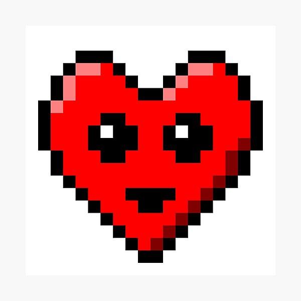 Impressions Photo Sur Le Theme Coeur Pixel Redbubble